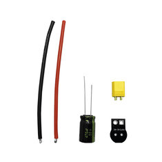 MotiveRC XT30/XT60 Male Plug Connector Cable with Capacitor for RC Drone