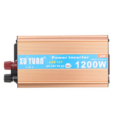 XUYUAN DC 12V to AC 110V Auto Car 1200W Power Inverter Converter USB Charger Adapter