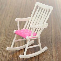 Dollhouse Nursery Furniture Rocking Chair Accessories