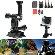 Helmet Side Mount Kit Set Flat Curved Base Mounts For GoPro Hero 4/3+3/2/1 SJCAM