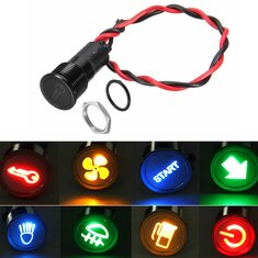 12V 24V 36V 14mm Symbol LED Dash Panel Warning Signal Light Indicator Lamp Car Boat