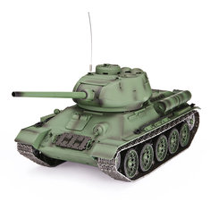 Heng Long 3909-1 1/16 2.4G T-34 Rc Car Battle Tank Metal Track W/ Sound Smoke Toy