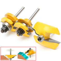 3pcs 1/4 Inch Shank Ogee Rail and Stile Router Bit Set