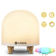 AUGIENB Eye Caring Color Changing LED Mood Lamp Tap Control Silicone Bedside Night Light
