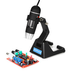 S09 25X-600X Digital 2.0MP Microscope Continuous Magnifier with High-End Universal Bracket