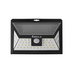 ARILUX® AL-SL11 Solar Power 44 LED PIR Motion Sensor Light Outdoor Wide Angle Waterproof Wall Lamp