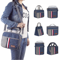 IPRee® Waterproof 900D Canvas Thermal Lunch Bag Box Cooler Thermo Insulated Food Handbag Picnic