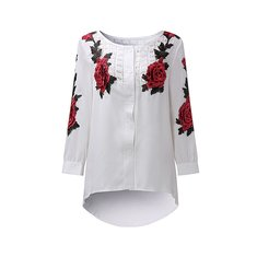 Women Embroidery Patchwork Blouses