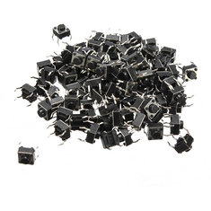 Geekcreit® 2000pcs Mini Micro Momentary Tactile Tact Switch Push Button DIP P4 Normally Open
