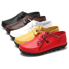 Women Soft Comfortable Leather Flats US Size 5-12