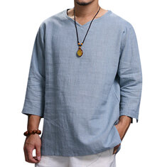 ddba5b52be45 Ethnic Casual Men s Large Size Loose T-Shirts
