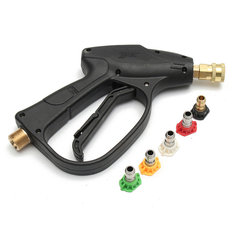 2600PSI High Pressure Water Gun Adapter With 5pcs GMP2.5 Spray Nozzles Tips for Watering Tools