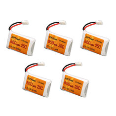 5Pcs ZOP Power 3.7V 850mAh 1S 25C Lipo Battery For RC Model