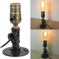 Adjustable Vintage Industrial E27 Socket Table Bedside Desk Lamp Holder