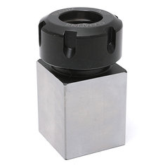 Hard Steel Square ER-25 Collet Chuck Block Lathe Tool Holder