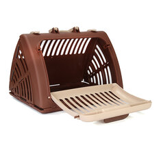 Dog Crate Hard Sided Pet Carrier Foldable Training Kennel Portable Cage House Dog Repeller