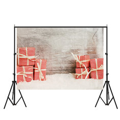7x5ft Vinyl Christmas Wood Present Gift Photography Backdrop Photo Studio Props Background
