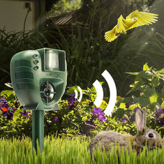 Digoo DG-AR01 PIR Ultrasonic Animal Dispeller Dog Cat Insect Flash Light Dog Repeller Outdoor Garden Expeller