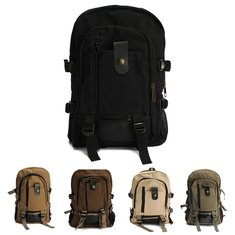 Outdoor Canvas Bag Backpack Shoulder Bag Hiking Rucksack Satchel Unisex