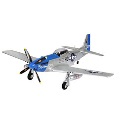 4 Channel Wingspan 750mm EPO Park Flyer P51 Mustang (768-1) KIT/PNP RC Airplane-Blue