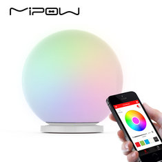 MIPOW BTL-301W PLAYBULB Sphere Smart LED Night Light Smartphone APP Controlled Color Changing Lights Dimmable Glass Orb Decorative Lamp