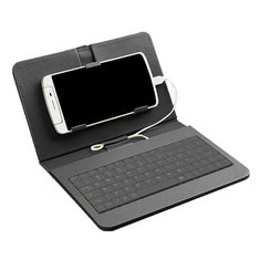Bakeey™ Wired Keyboard Flip Holster Case For Android Mobile Phone 4.2''-6.8''