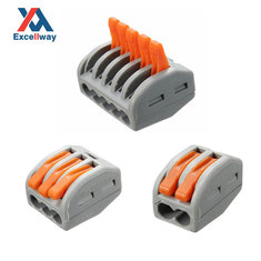 Excellway® ET25 2/3/5 Pins 32A Spring Terminal Block Electric Cable Wire Connector