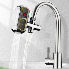 Smart Kitchen Faucet Electric Water Heater Hot & Cold Tap Temperature Display Free Installation