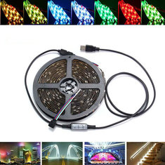 0.5/1/2/3/4/5M USB Waterproof RGB SMD5050 LED Strip Light Bar TV Background Lighting Lamp Kit DC5V