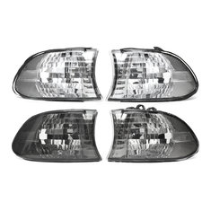 Pair Corner Light Lampshades Side Lamp Bulb Covers Set for BMW E38 7 Series 1999-2001
