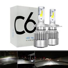 2pcs 12V/24V H1/H4/H7/H11 LED Headlights 72W 7200Lm