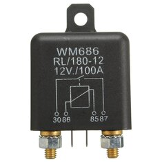 Switch Split Charge Relay 12V 100Amp 4 Pin Heavy Duty ON OFF for Car Van Boat