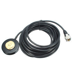 NMO Mount Magnetic Base for Bus Taxi Mobile Radio Antenna 5M RG-58 Cable