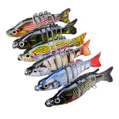 Proberos 6PCS Sections Fishing Lure 10.3cm 20.7g Swimbait Fishing Bait 6#