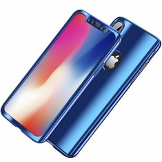 Bakeey Plating 360° Full Body Case+Tempered Glass Film For iPhone XR/XS