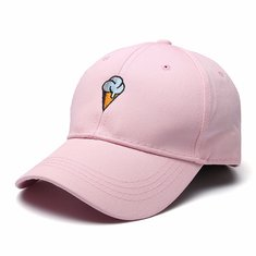 Women Cotton Ice Cream Embroidery Sport Men Hip-hop Cap Strap Back Trucker Baseball Hat