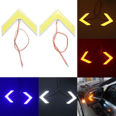 Pair 18SMD LED COB Arrow Panel For Car Rear View Mirror Indicator Turn Signal Lights
