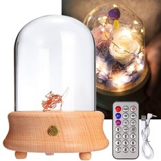 Wooden Table Lamp Music Box Wireless bluetooth Light Decor with Music Player Gift for Kids