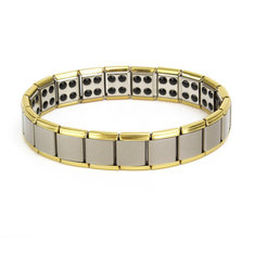 Stainless Steel Energy Health Healing Men Bracelet Jewelry
