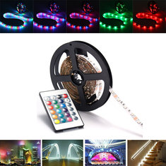0.5/1/2/3/4M SMD3528 RGB LED Strip Light Non-Waterproof TV Backlilghting Lamp + USB Remote DC5V
