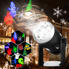 6 Patterns 4W LED Stage Light  Laser Projector Lamp Landscape Garden Decor for Halloween Christmas