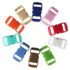 10pcs 0.39in (10mm) Colorful Contoured Side Release Buckles Hook For Paracord Bracelet