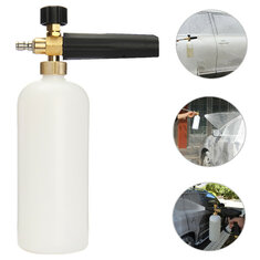 1L Adjustable Snow Foam Lance Bottles with 1/4 Inch Quick Connect Adapter for Pressure Washer