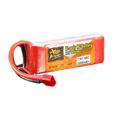 ZOP Power 7.4V 2200mAh 2S 45C Lipo Battery T plug