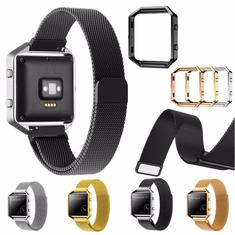 Replacement Large Size Metal Band Frame 235mm Wristband for Fitbit Blaze Watch
