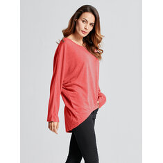 Loose Batwing Long Sleeve Tops T-shirt