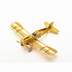 1/160 Scale Junkers D-1 3D DIY Metal Brass Etched Model Kit  Puzzle Assembled Model RC Airplane