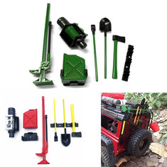 7pc 1 10 Rc Rock Crawler Decoration Accessory Tools For