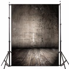 1.5x2.1m Black Wooden Walls Theme Photography Background Vinyl Fabric