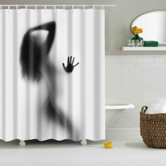 Bathroom Shower Curtains Sexy Woman Curtain Waterproof Polyester Fabric Screen